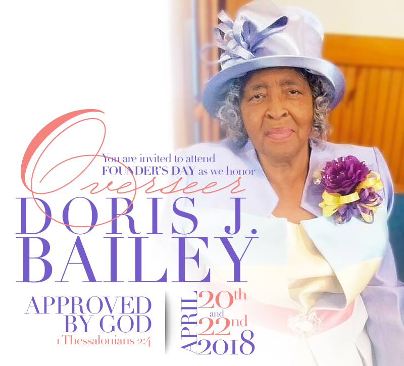 Founders day 2018 purity deliverance holiness church greetings in the holy name of jesus christ our savior m4hsunfo